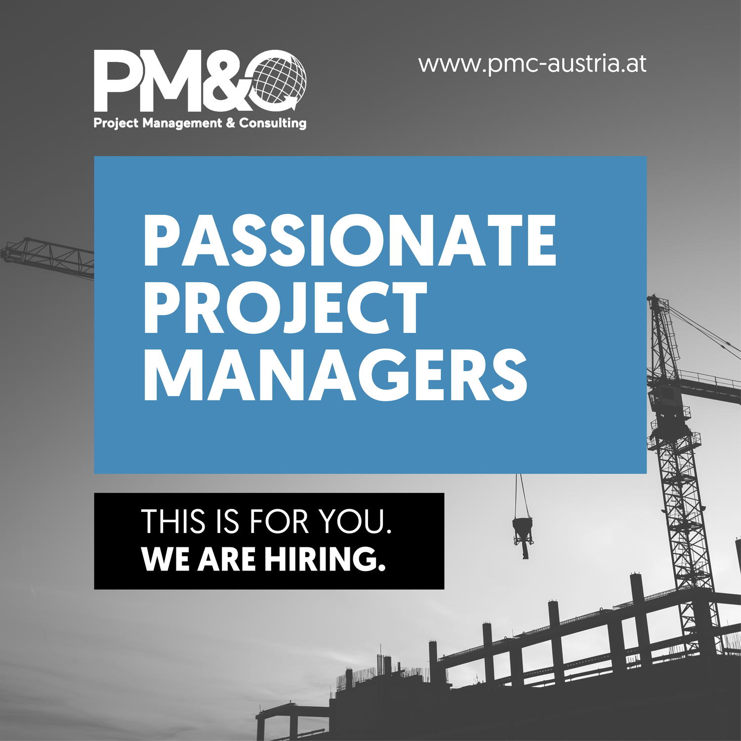 Passionate project managers –  This is for you. We are hiring.