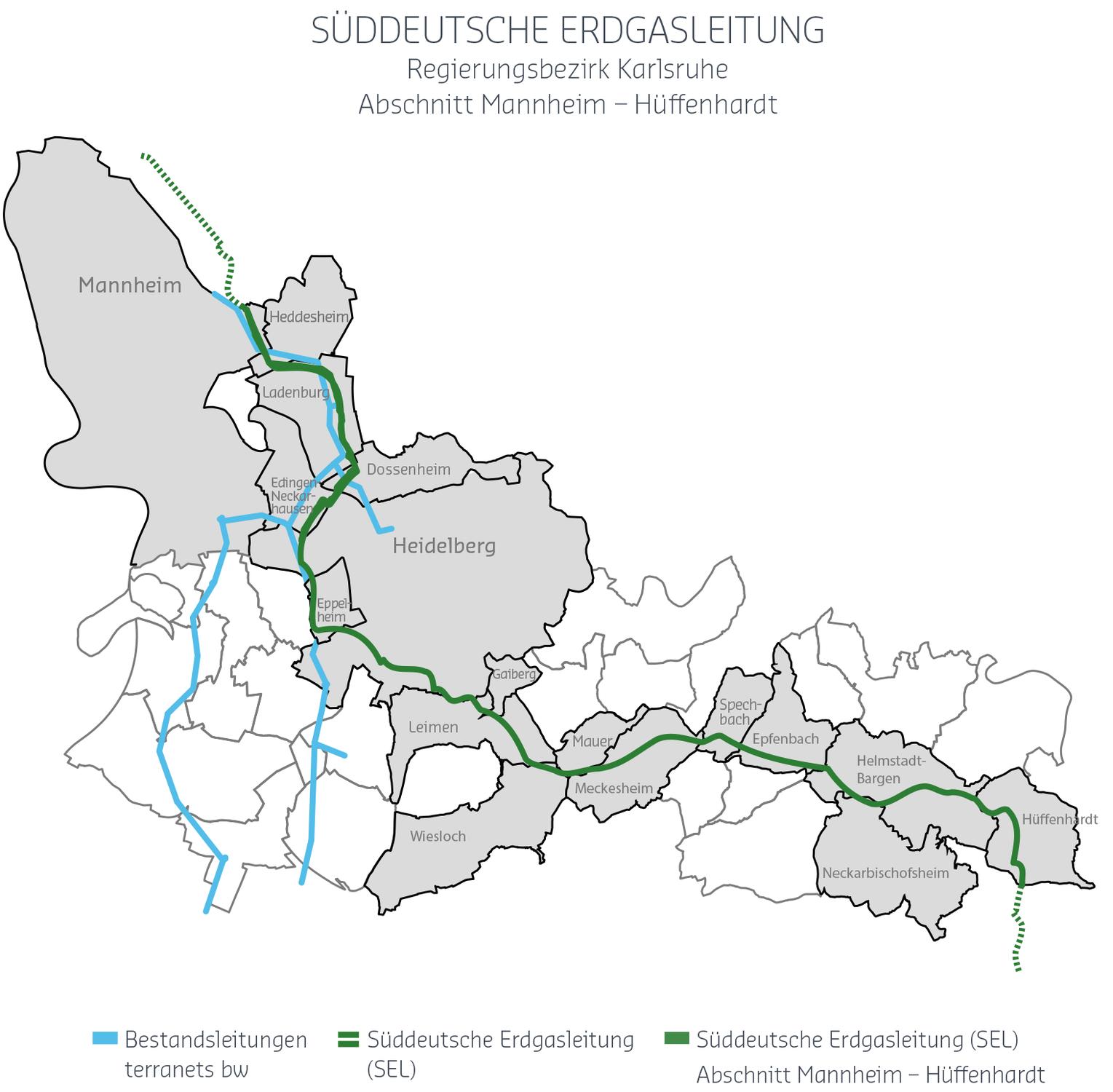 Süddeutsche Erdgasleitung