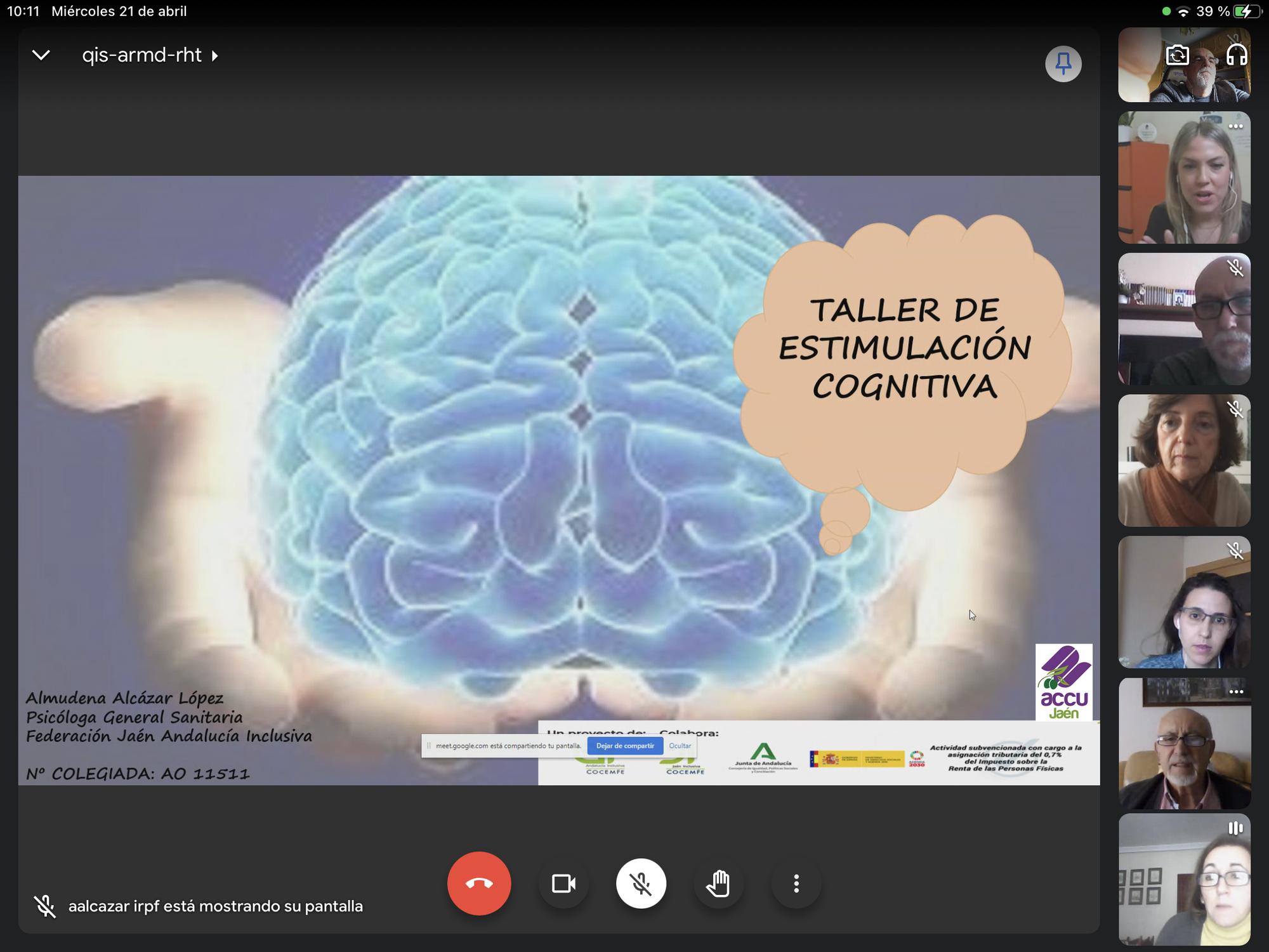 Taller on-line Estimulacio Cognitiva