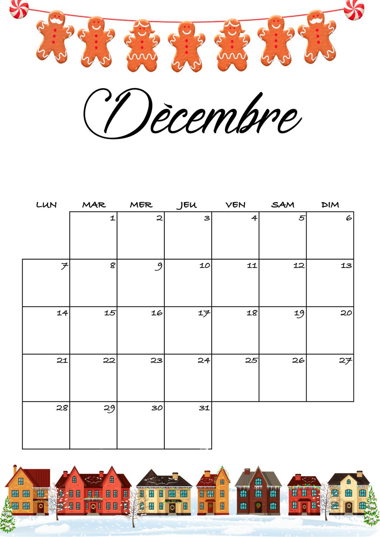 Free du 25 novembre 2020 - Le calendrier de Décembre 2020