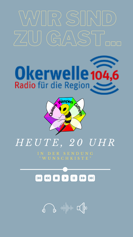 """Auftritt der Queeren Wespen in der """"Wunschkiste"""" bei Radio Okerwelle"""