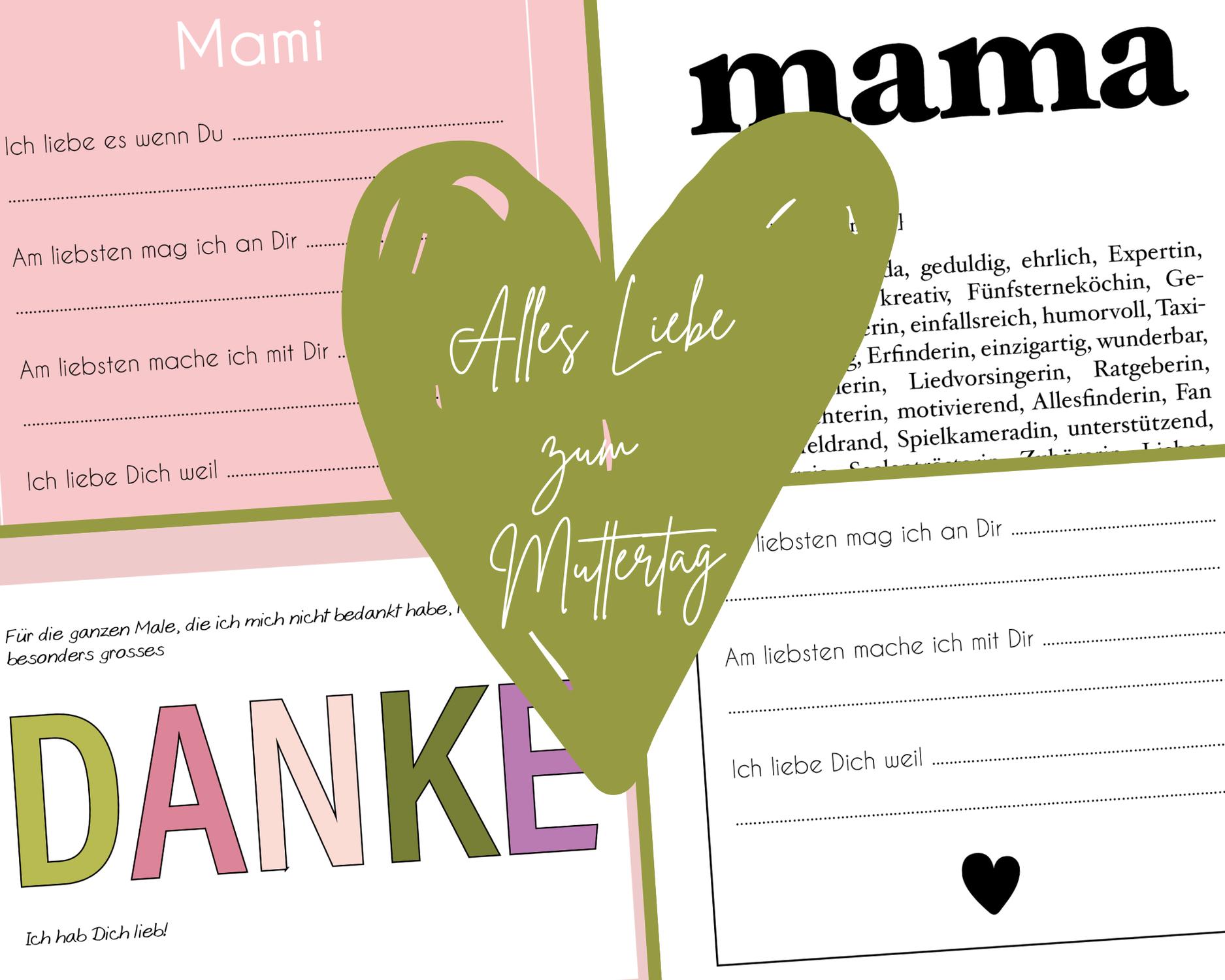 Freebie: Karten zum Muttertag