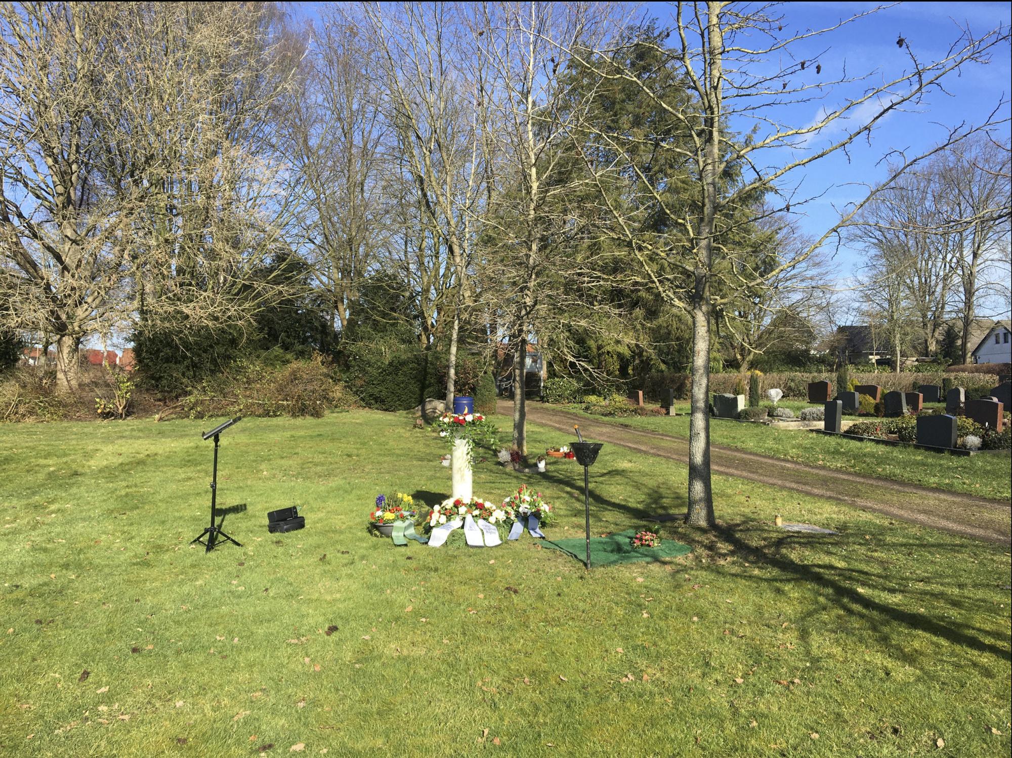Sabotage auf dem Friedhof