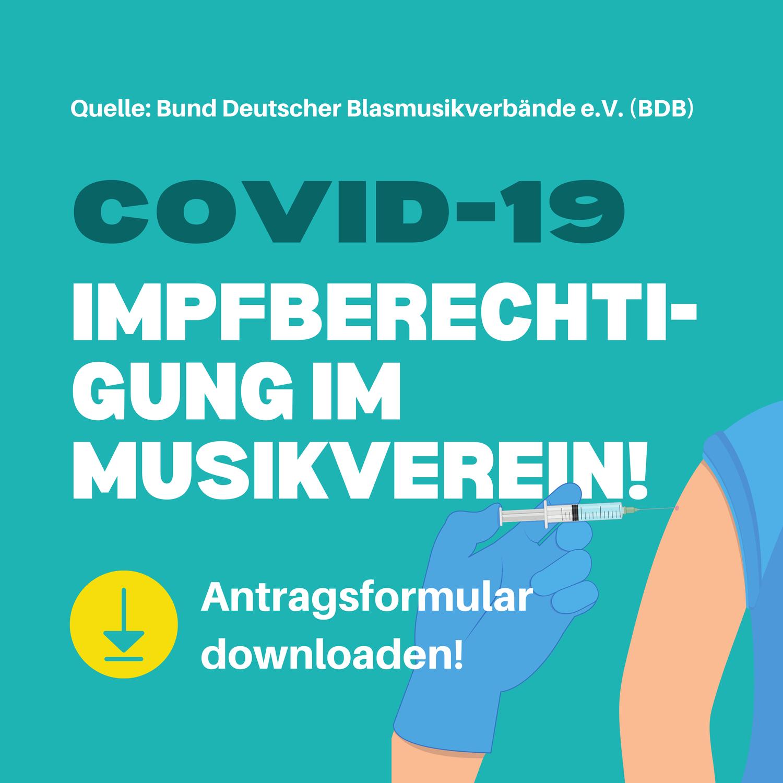 Impfberechtigung im Musikverein, aber wer genau?