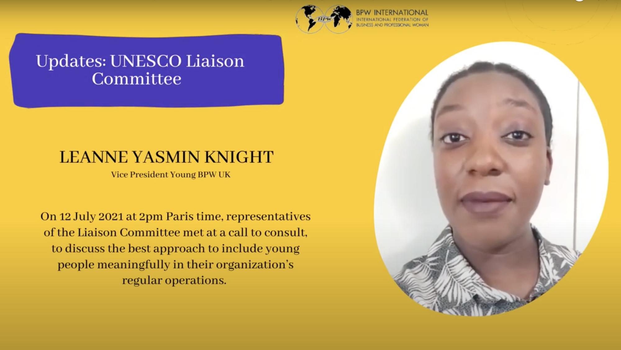 Updates: UNESCO Liaison Committee