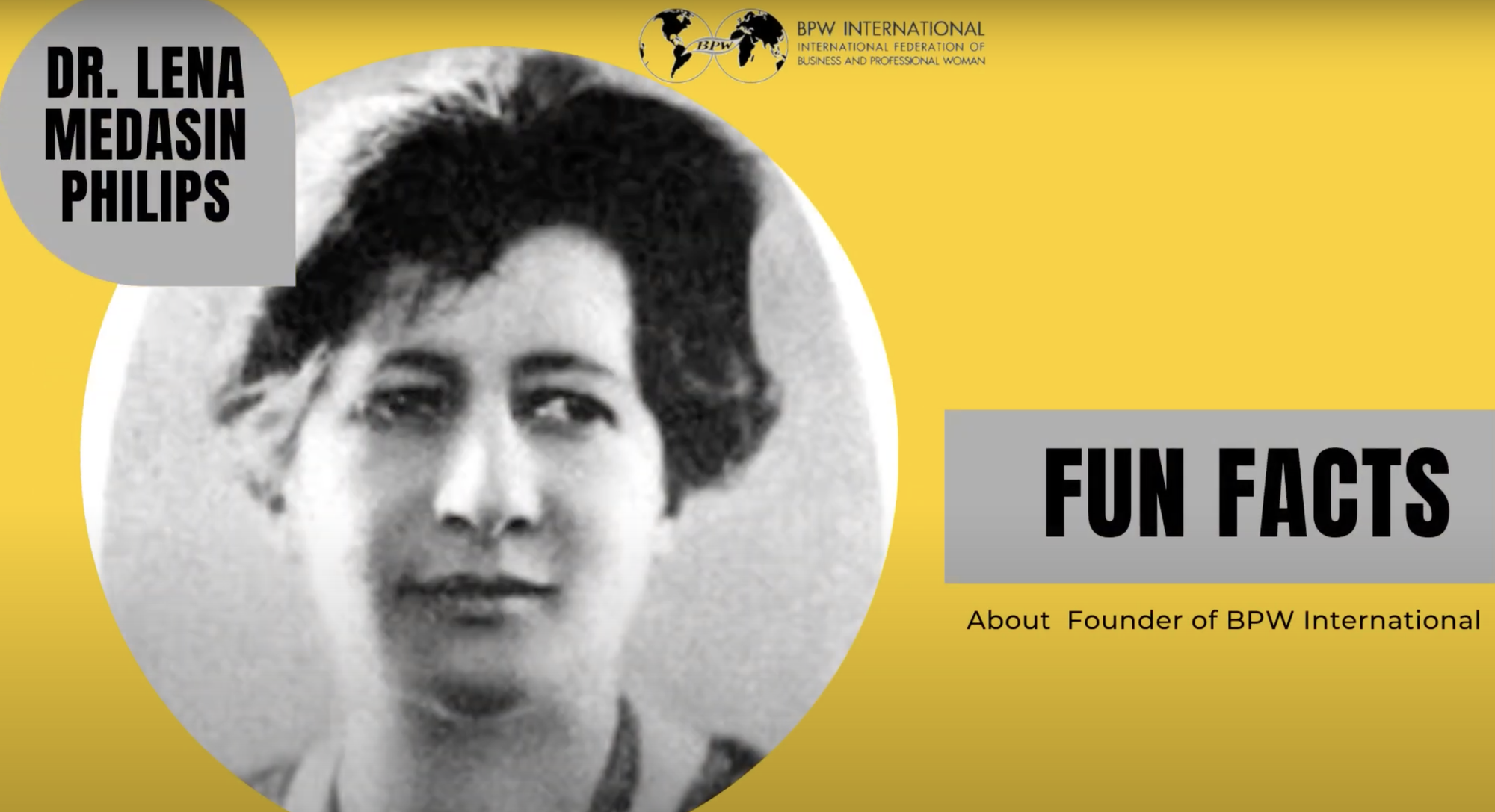 Fun Facts about our Founder Dr. Lena Madesin Philips