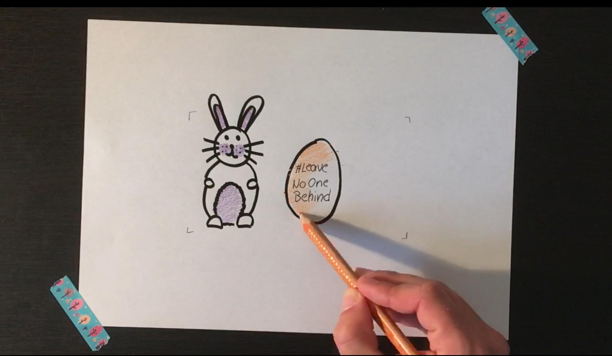 Ostergrüße - Hase und Ei visualisieren