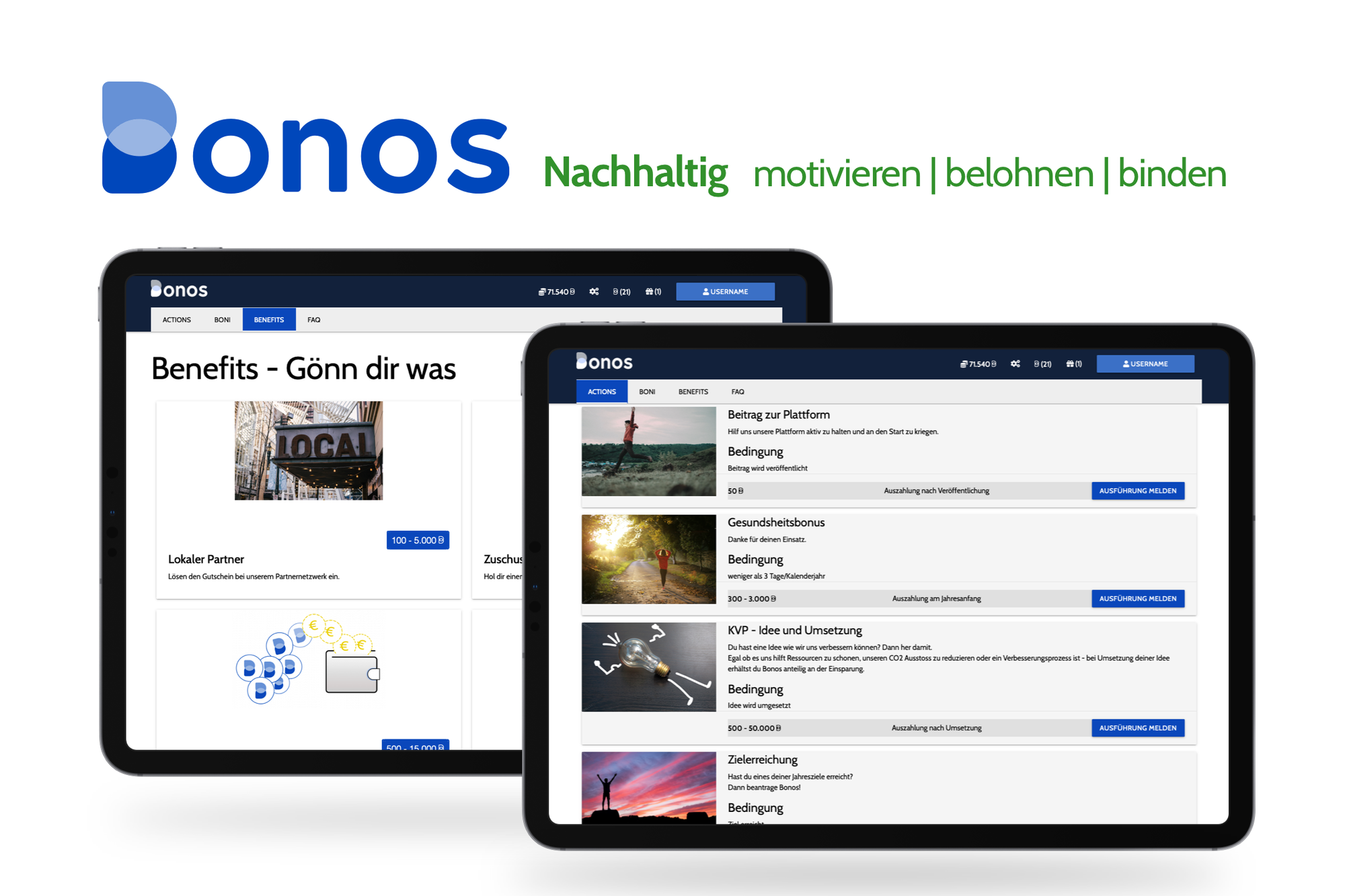 Achieving more together with Bonos - motivation platform from Lindner start-up tibe.io