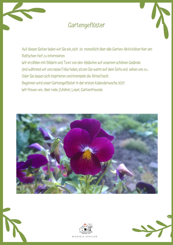 Gartengeflüster - Ein Blog