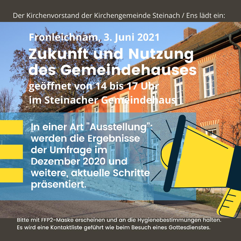 Zukunft und Nutzung des Gemeindehaus Steinach / Ens