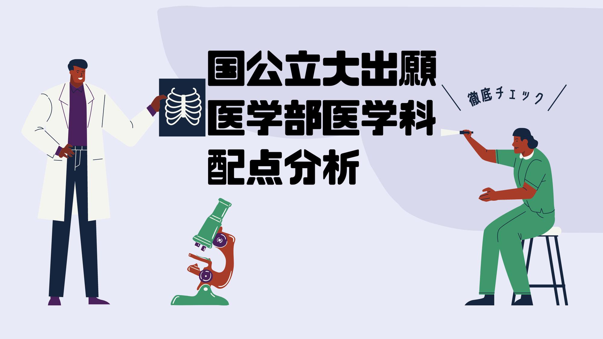 国公立大学出願に向けて【医学部医学科】