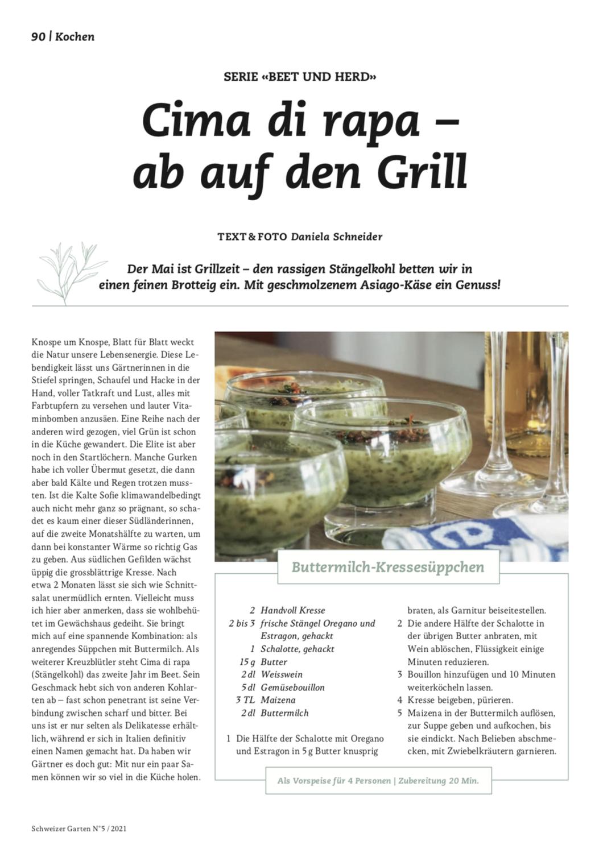 """Serie """"Beet und Herd"""" im Gartenmagazin Schweizer Garten"""