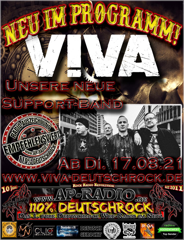 Viva unsere neue Support-Band!