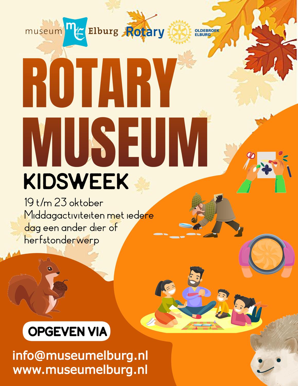 Rotary Museumkidsweek - activiteitenaanbod tijdens herfstvakantie
