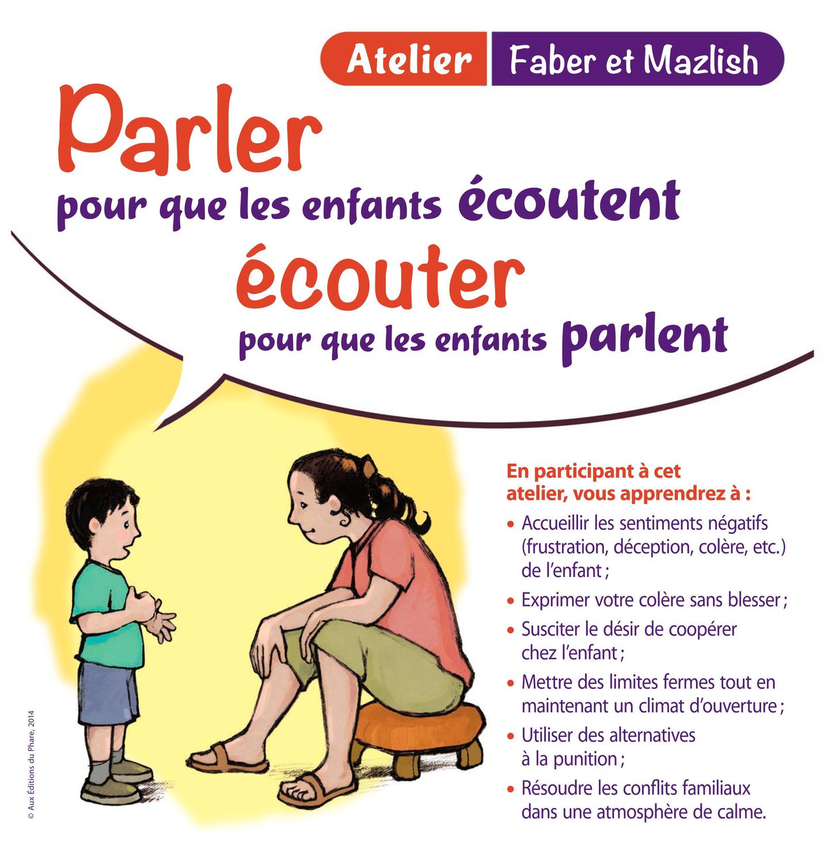 """Formulaire d'inscription aux ateliers """"parler pour que les enfants écoutent, écouter pour que les enfants parlent"""""""