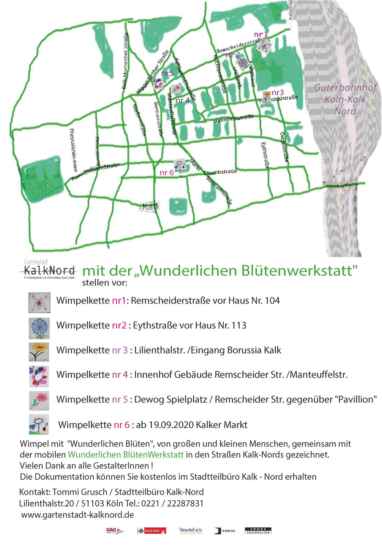 """Abschlussveranstaltung der """"Wunderlichen BlütenWerkstatt"""" auf dem Kalker Markt"""
