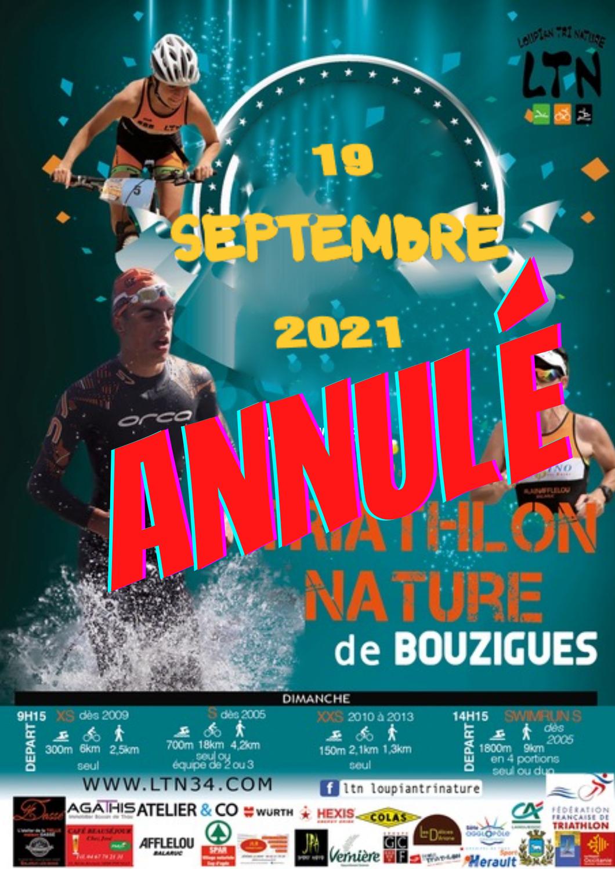 Cross triathlon de Bouzigues annulé