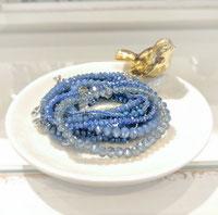 Armänder aus Glas blau