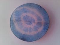 Ziegenpergament Batik Blue
