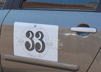 Nagelstudio 33 auto sticker