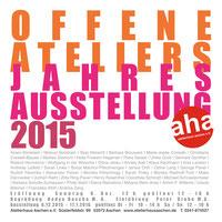 Einladung AHA Jahresausstellung 2015; u.a. mit Klaus Kaufmann