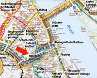 Stadtkarte von Mainz