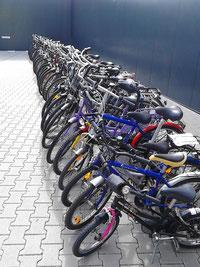 Viele Fahrräder haben wir im Angebot