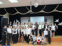 En compagnie  des enfants du collège français renforcé de SAMARA. Russie