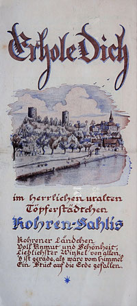 Werbeprospekt Kohren-Sahlis