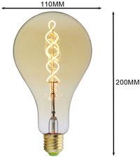 lampadina #oversize #grandi dimensioni #led #basso consumo