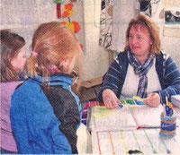 Spaß an der Arbeit mit Kinder hat Meike Lüdecke von der BGS Schenefeld