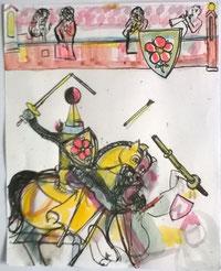 o.T. 24 x 18 Zeichnung aquarelliert 2004