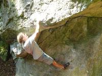 Bouldern Asphaltrose