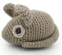 Kinderrassel - Erwin der Lauch ist aus 100% ökologischer Baumwolle und für Kinder ab dem Babyalter geeignet