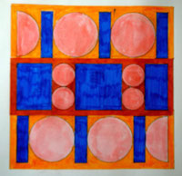 Ellen Roß, squares & circles, 2018 Arbeitsblatt