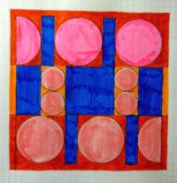 Ellen Roß, squares 6 circles, 2018 Arbeitsblatt
