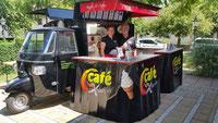 Cafe-und Softeis-Mobil mit Theke