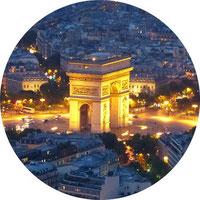 Private tour at night in Paris
