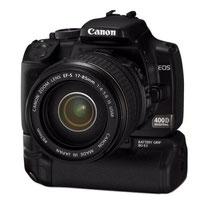 Canon EOS 400D mit Batteriegriff