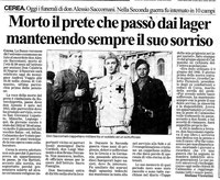 """Dal Giornale """"L'ARENA"""" Cronaca del Basso Veronese (23 set 2005)"""