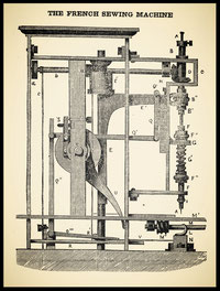 1849 Scientific American  The French Sewing Machine