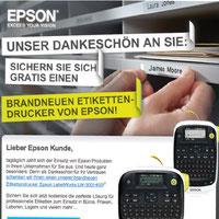 Epson bedankt sich bei seinen Kunden