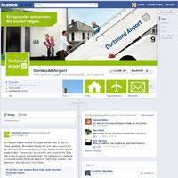 Der Check-In auf Facebook von Dortmund Airport