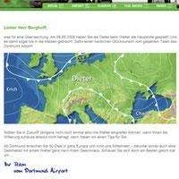 Der Dortmund Airport überrascht mit einer personalisierten Wettermail