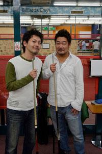 KPBAの長谷川選手(左)&石渡選手