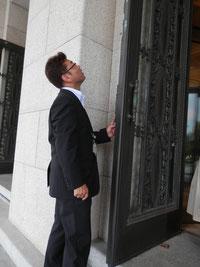 国会の扉の制作は佐倉藩の津田信夫、刻印を調査!!