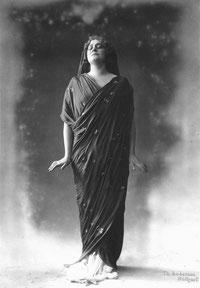 Hedy Bügelmann in der Rolle der Ariadne, Stuttgart, ca. 1915