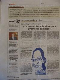 Entrevista periódico Ultima Hora
