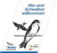 """Plakette """"Schwalbenfreundliches Haus"""" des NABU Nordrhein-Westfalen"""