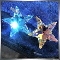Blau und gold Kristall Stern